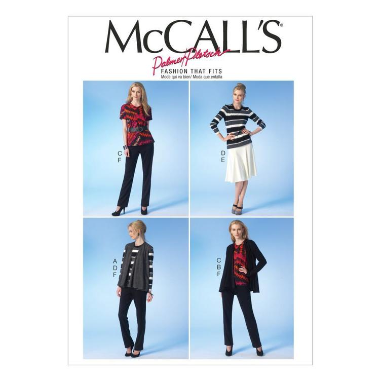 McCall's M7059 Misses' Vest Jacket Tops Skirt & Pants
