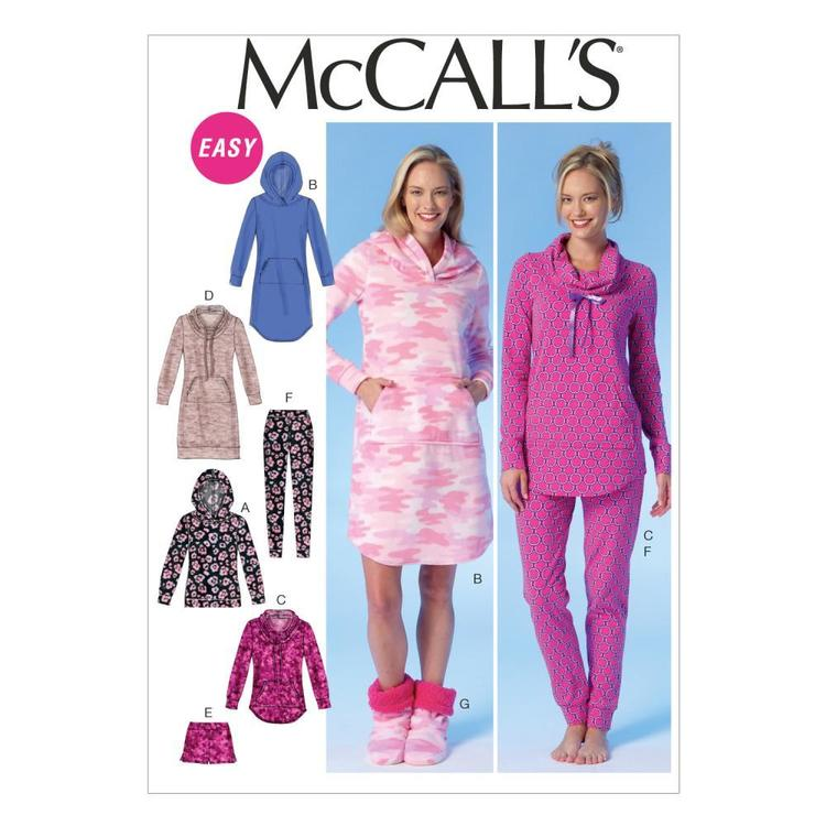 McCall's Pattern M7061 Misses' Tops Dress Shorts Pants & Slippers