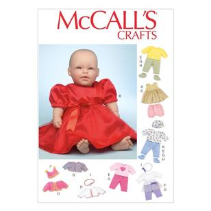 "McCall's Pattern M7066 Clothes & Accessories For 11""-12"" & 15""-16"" Baby Dolls"