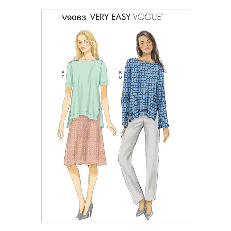 Vogue V9063 Misses' Top Skirt & Pants