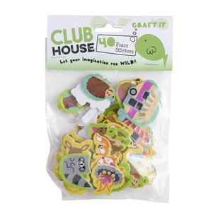 Club House Woodlands Printed Foam Stickers