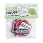 Club House Road Signs Foam Stickers Red, White & Black
