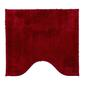 Jaspa Plush Latex Back Contour Bath Mat Red Bath Mat
