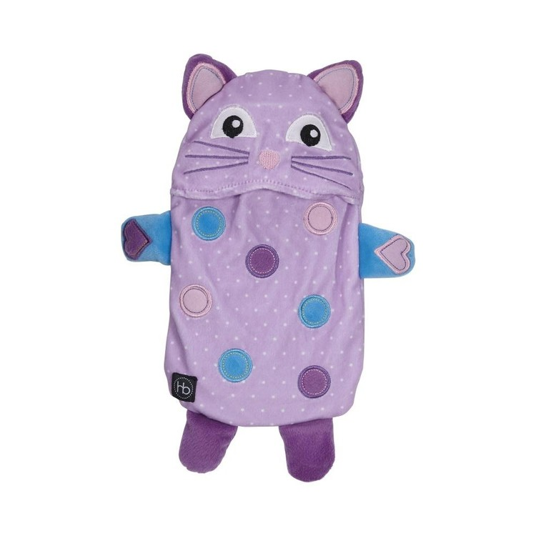 Ladelle Hot Botts Polkadot Kitty Hot Water Bottle & Cover Purple