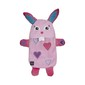 Ladelle Hot Botts Bunny Heart Hot Water Bottle & Cover Pink