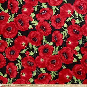 Large Floral Cotton Sateen
