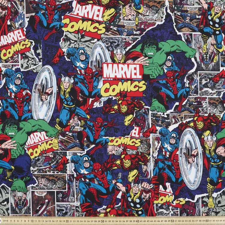 Marvel Comics Break Thru Fabric