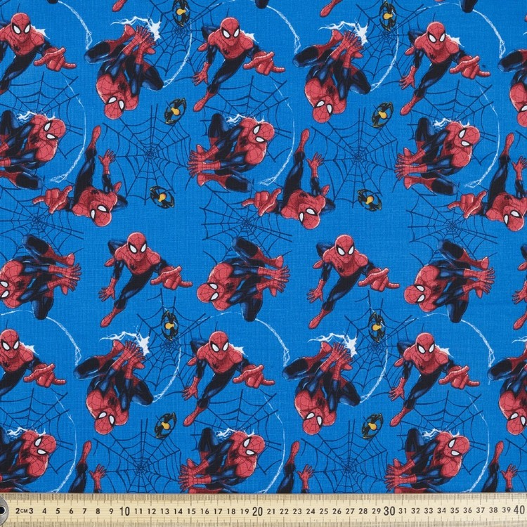 Marvel Spider-Man Spiders & Webs Fabric