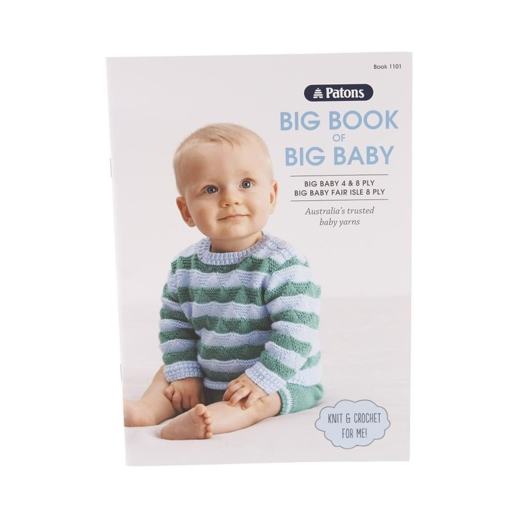 Patons Big Book Of Big Baby 4 & 8 Ply 1101 White