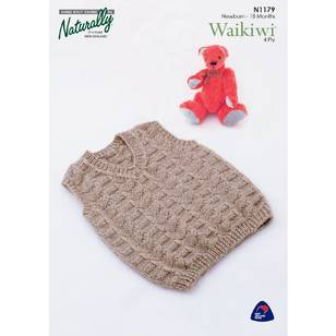 Naturally Waikiwi 4 Ply N1179 Baby Vest