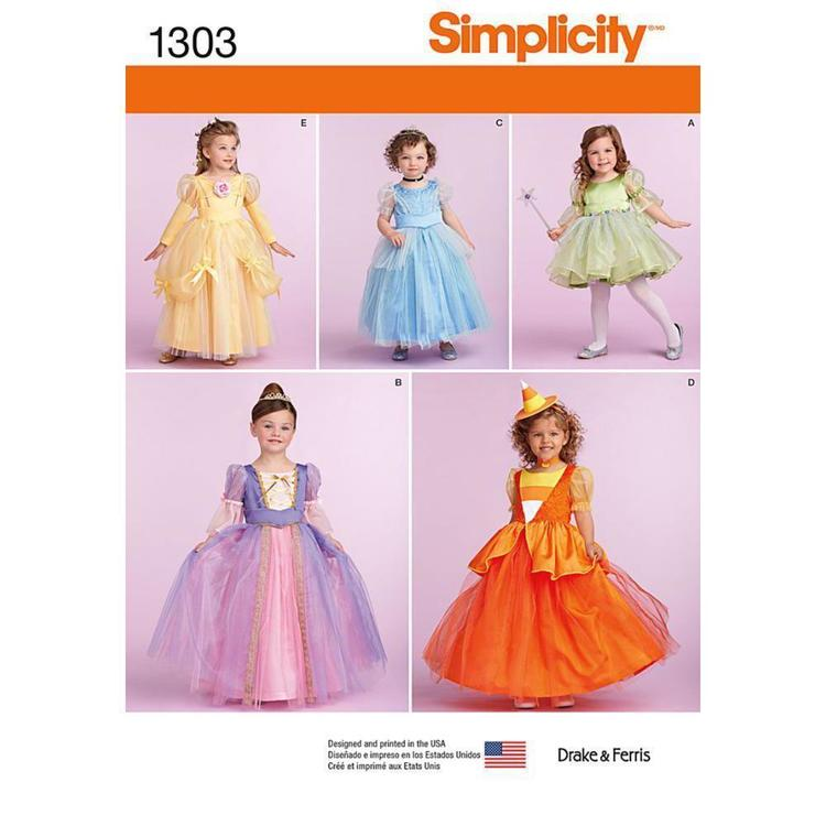 Simplicity 1303 Toddlers' & Child's Costumes