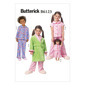 Butterick B6123 Girls' & Doll Dolls' Robe Belt Top & Pants