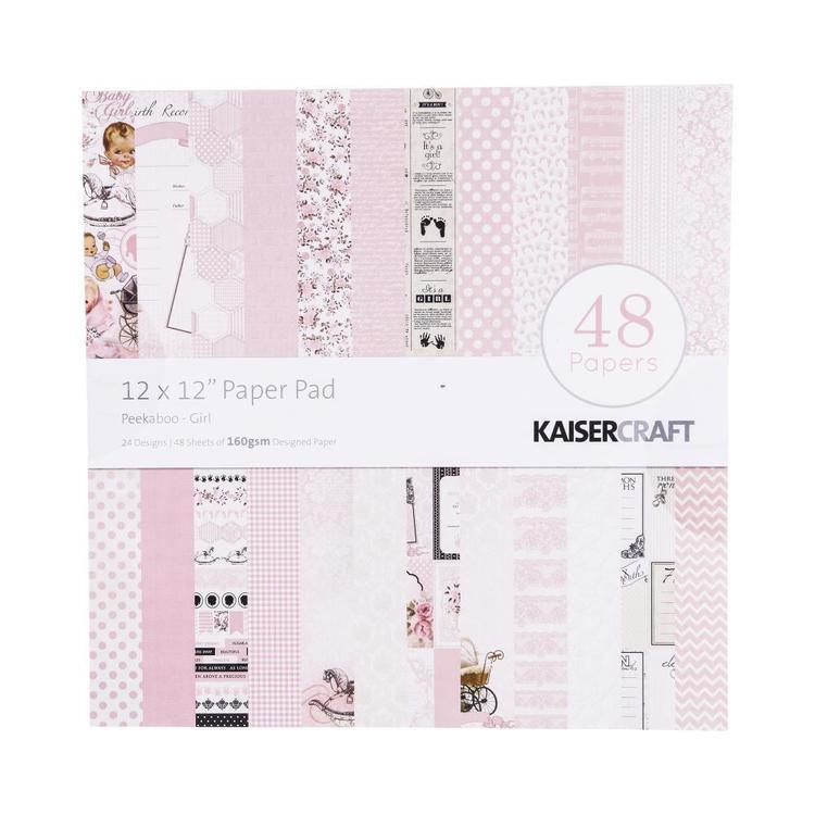Kaisercraft Kasiercraft Peekaboo Girl Paper Pad
