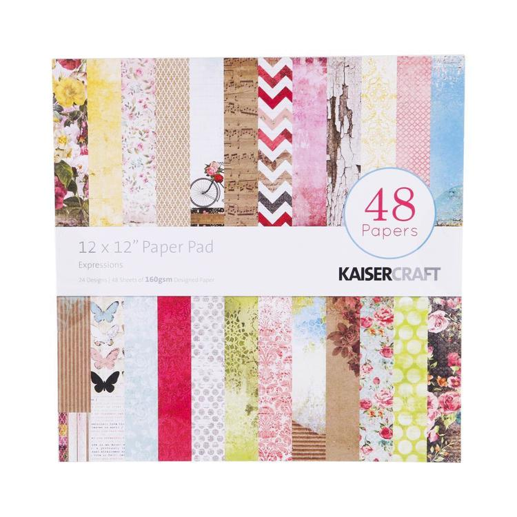 Kaisercraft Expressions Paper Pad Multicoloured 30 x 30 cm