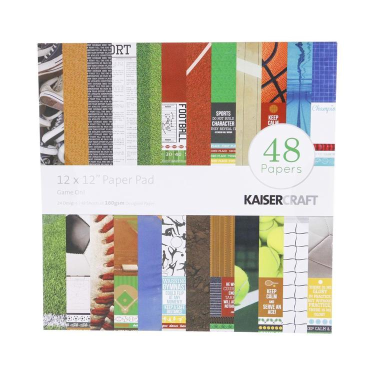 Kaisercraft Game On! Paper Pad Multicoloured 30 x 30 cm