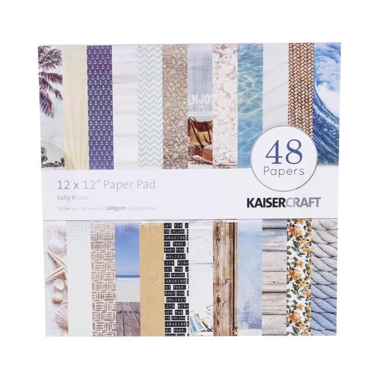 Kaisercraft Salty Kisses Paper Pad Multicoloured 30 x 30 cm