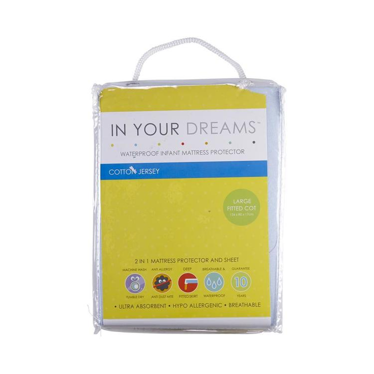 In Your Dreams Large Fitted Cot Mattress Protector