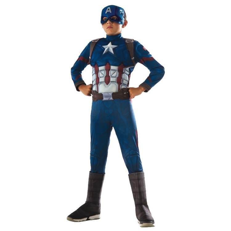Marvel Avengers Deluxe Captain America Costume Blue