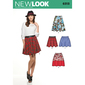 New Look 6313 Misses' Skirts With Length Variations