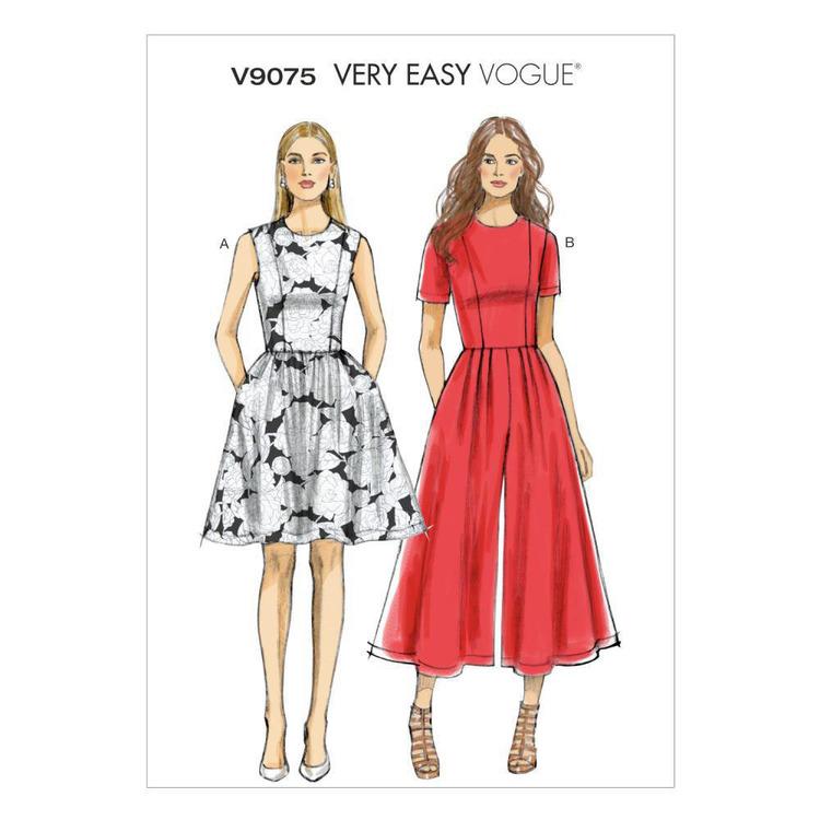 Vogue Pattern V9075 Misses' Petite Dress & Jumpsuit