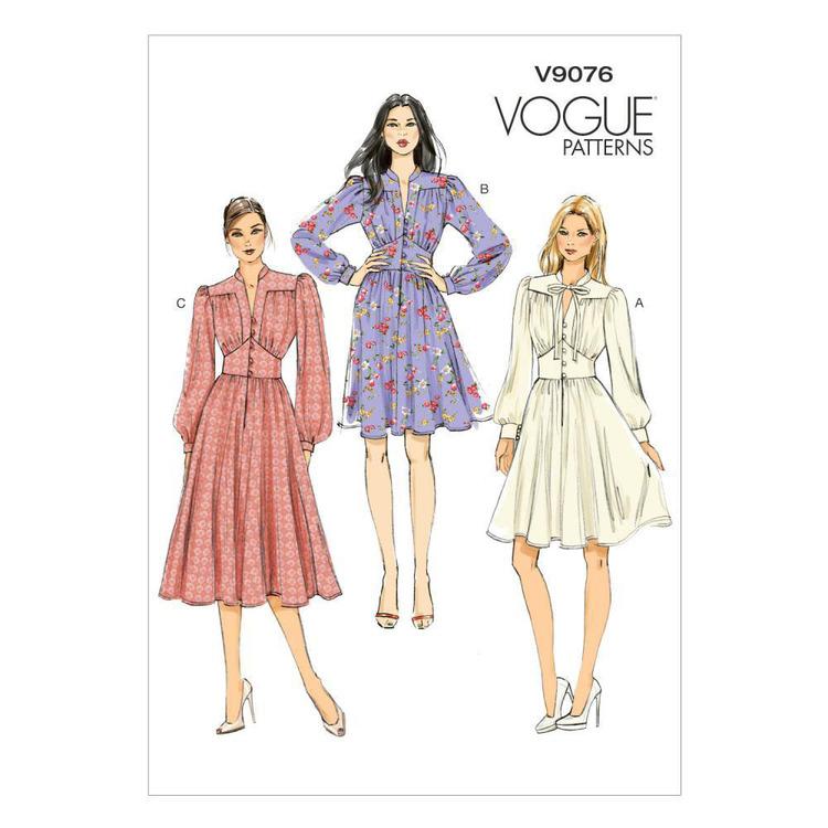 Vogue Pattern V9076 Misses' Dress