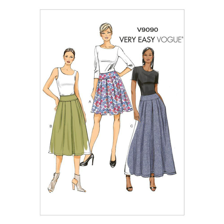 Vogue Pattern V9090 Misses' Skirt