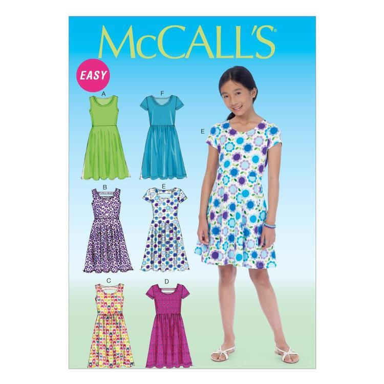 McCall's Pattern M7079 Girls' Plus Dresses