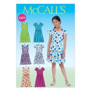 McCall's Pattern M7079 Girls' Plus Dresses