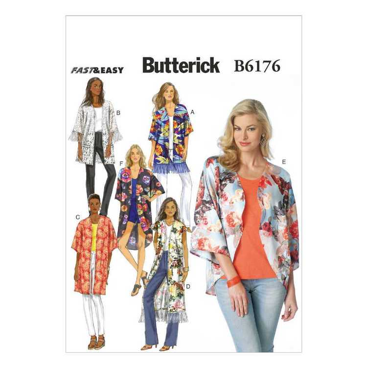 Butterick Pattern B6176 Misses' Kimono