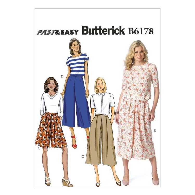 Butterick Pattern B6178 Misses' Culottes