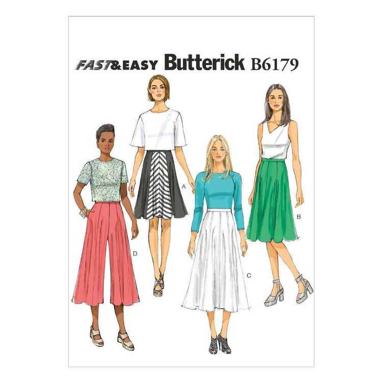 Butterick Pattern B6179 Misses' Skirt & Culottes