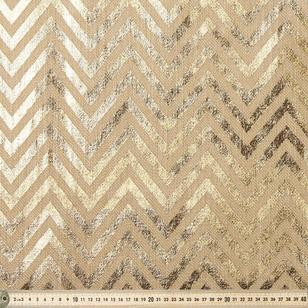 Chevron Metallic Printed Hessian
