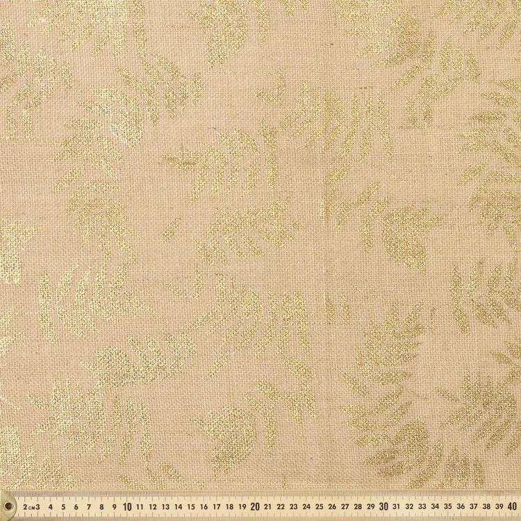 Ashleaf Metallic Printed Hessian