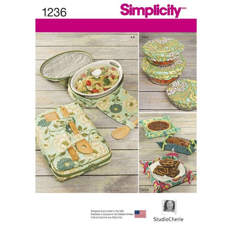 Simplicity Pattern 1236 Casserole Carriers Gifting Baskets And Bowl Covers