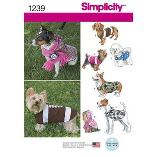 Simplicity Pattern 1239 Dog Coats