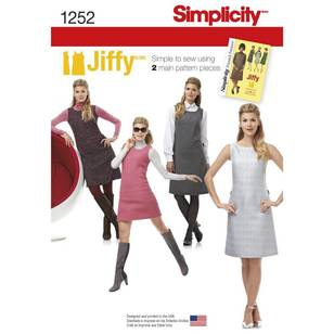 Simplicity Vintage 1252 Misses' And Miss Petite Dress Or Jumper