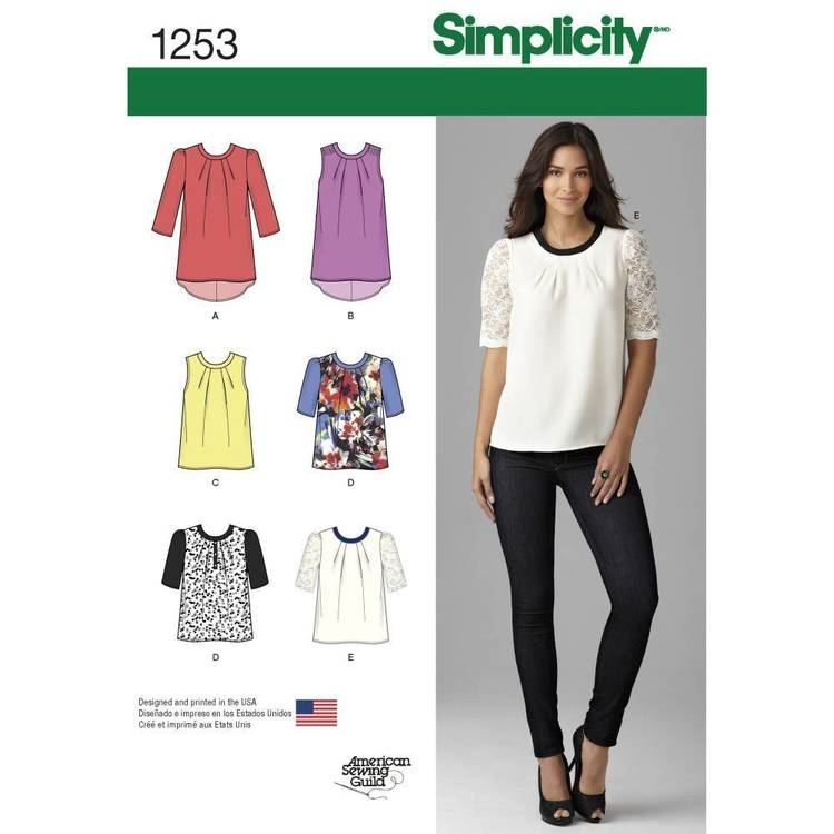Simplicity 1253 Misses' Top With Length Variations