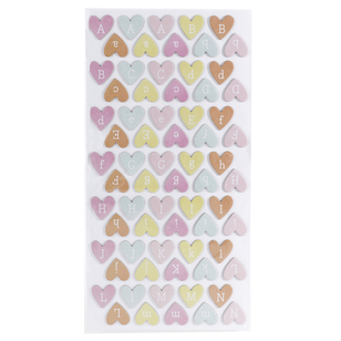 American Crafts Dear Lizzy Thickers Hearts Stickers