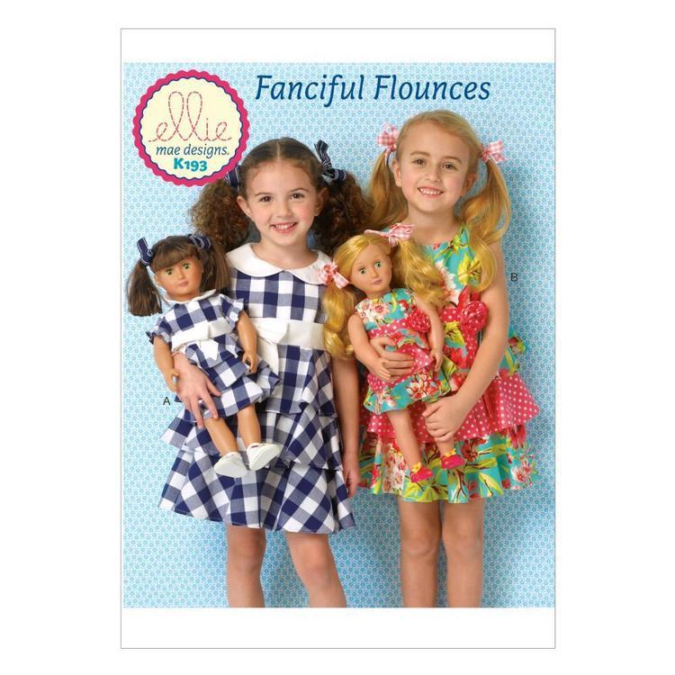 Kwik Sew Pattern K0193 Girls' Dresses