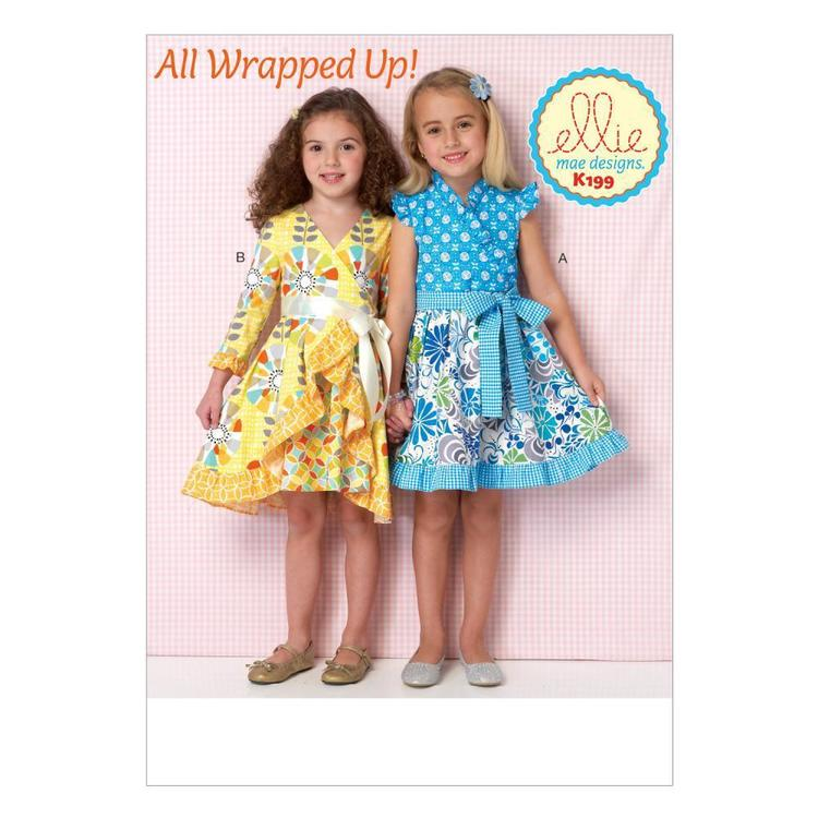 Kwik Sew Pattern K0199 Girls' Dresses & Sash
