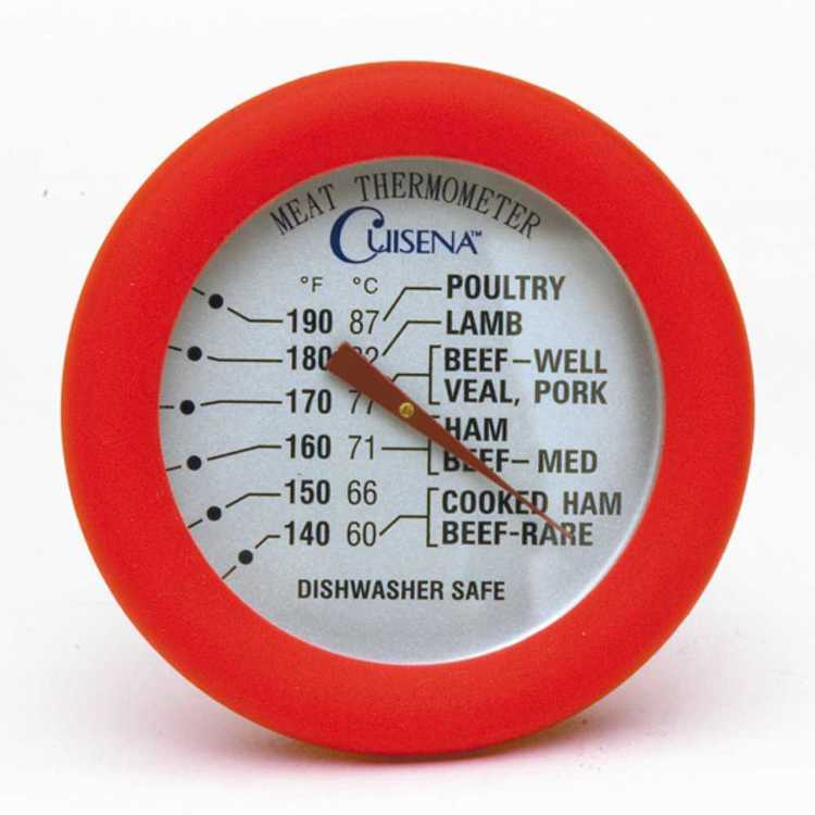 Cuisena Silicone Meat Thermometer Red