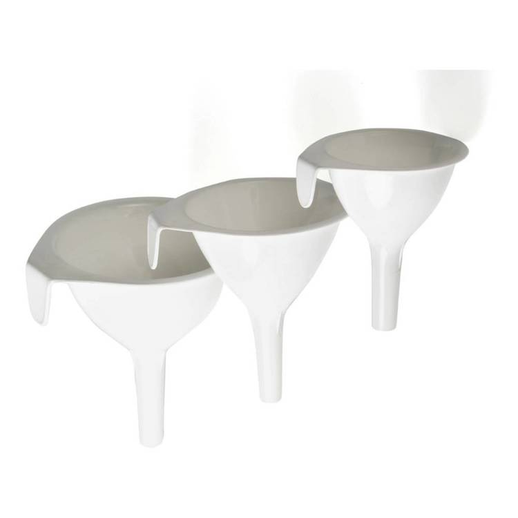 Cuisena Plastic Funnel Set White