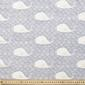 Whales Combed Cotton Fabric Navy 112 cm