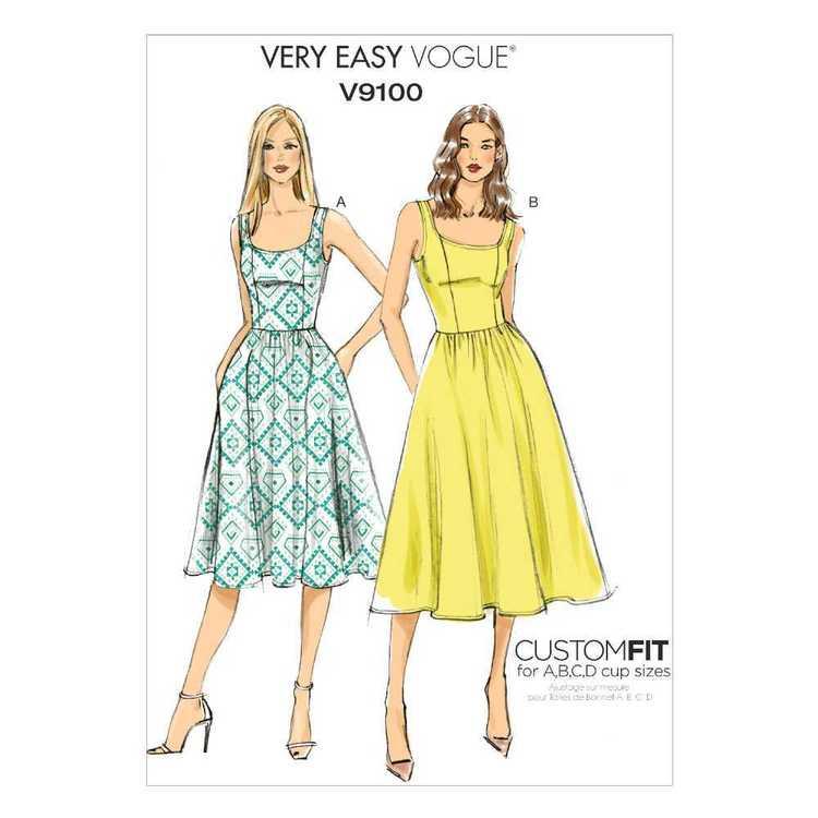 Vogue Pattern V9100 Misses' Dress