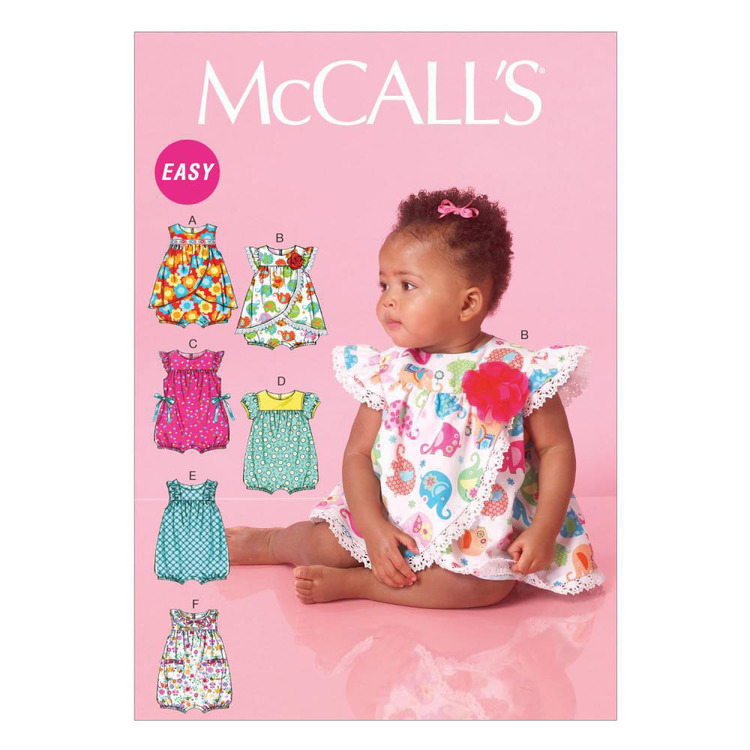 McCall's Pattern M7107 Infants' Rompers