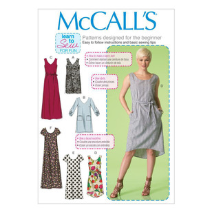 McCalls M7120 Misses' Dresses & Belt