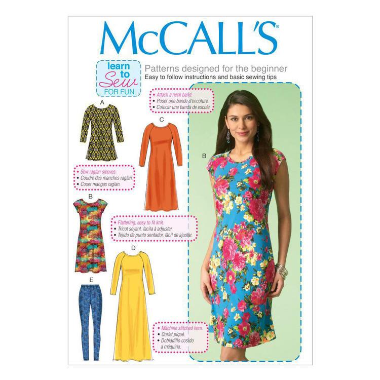 McCall's Pattern M7122 Misses' Tunic Dresses & Leggings