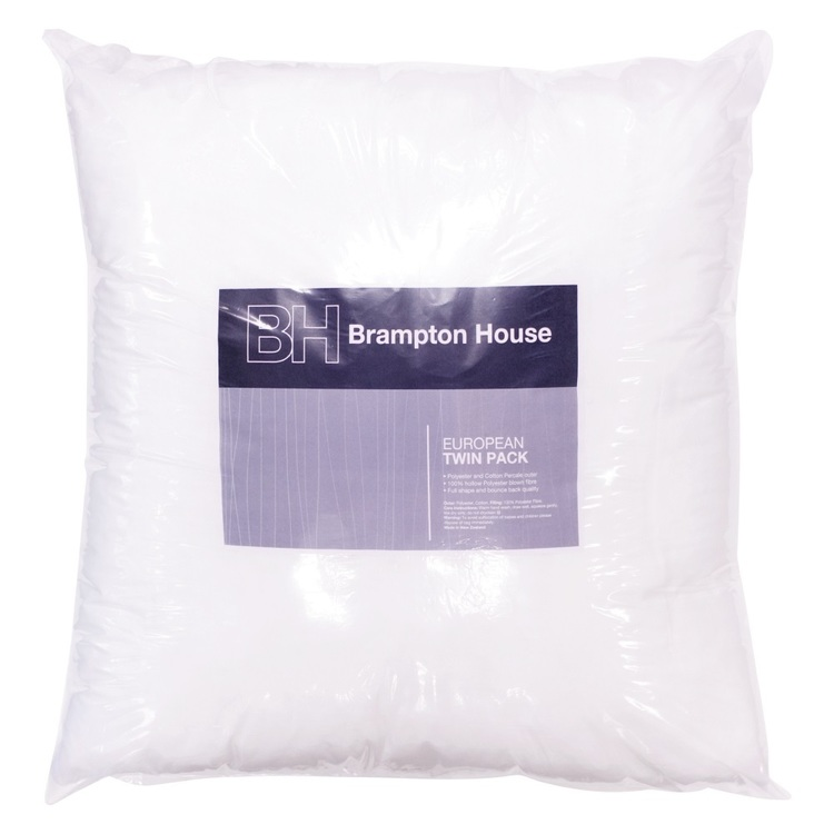 Brampton House European Pillow Twin Pack