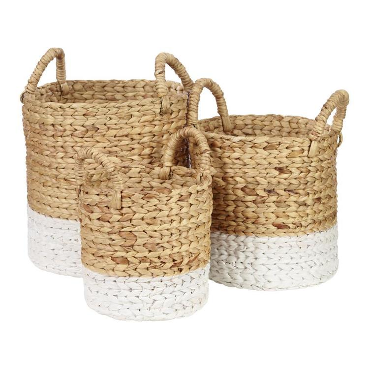 Living Space Matilda Open Round Basket With Handles