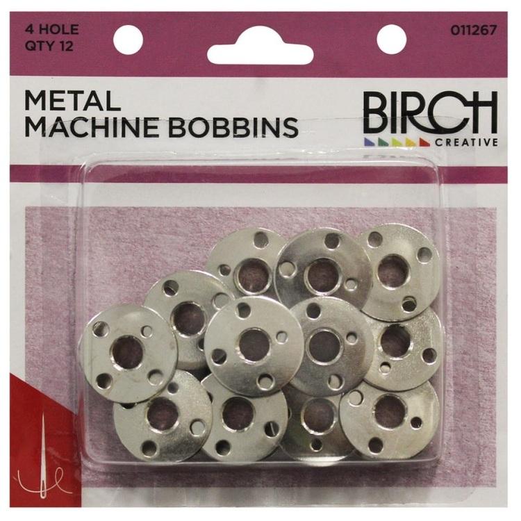 Birch Metal 4-Hole Bobbin Pack